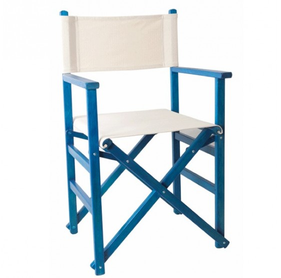 Silla de director Recta Azul