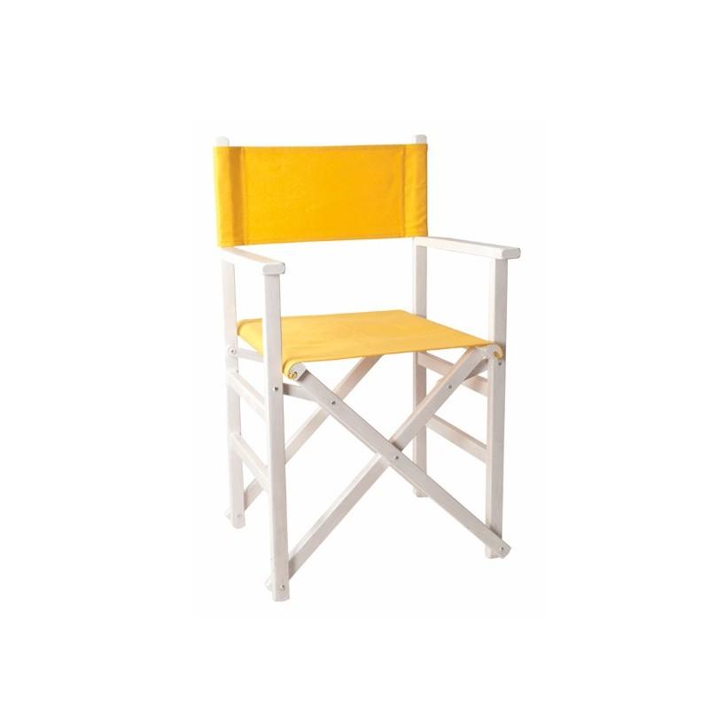 Silla de director recta blanca for Silla de director