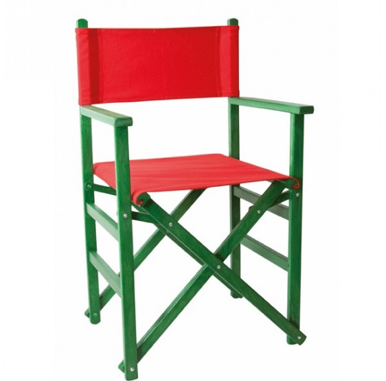 Silla de director Recta Verde