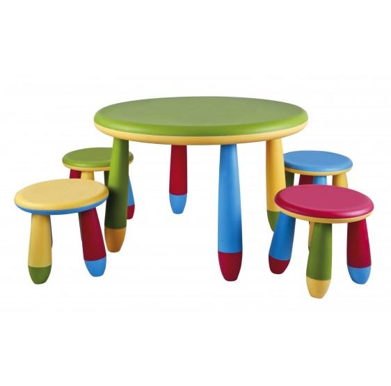 Taburetes y Mesas Infantiles Redondas.Conjunto 2