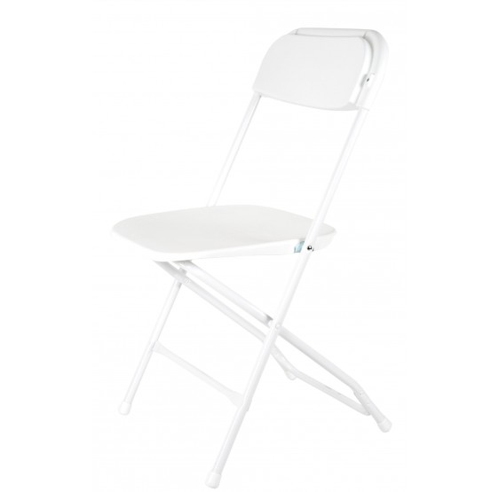 Silla plegable blanca for Silla plegable blanca